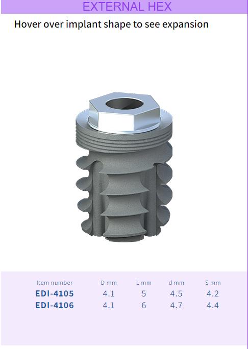 001 1 - Имплантат Dentack External Hex