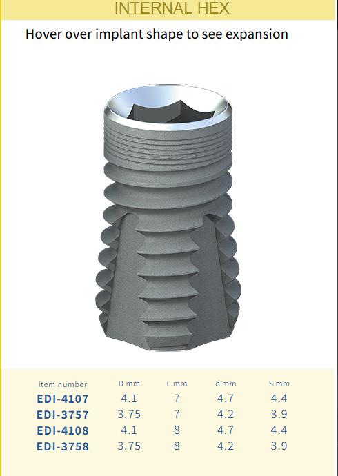 002 - Имплантат Dentack Internal Hex